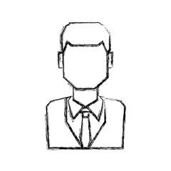 Man faceless profile icon vector illustration graphic design