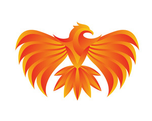 Modern Passionate Flaming Eagle Logo