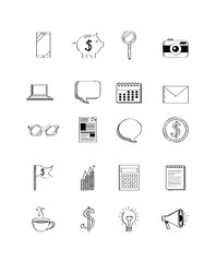 business related icons over white background. vector illustration