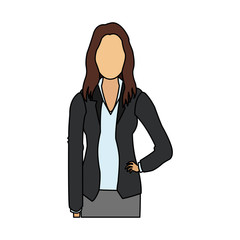 faceless business woman icon image vector illustration design