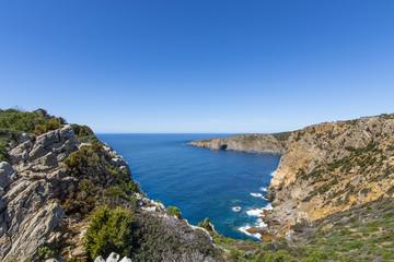 Promontory of Portu Sciusciau, near Cala Domestica in Buggerru, west coast of Sardinia, Italy