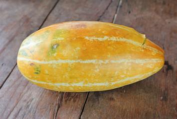 Thai Cantaloupe on wood table