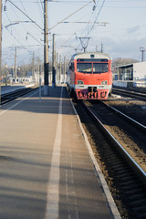 Old passenger train, red