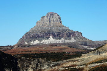Wall Mural - Glacier at Base of Mountain in Glacier National Park