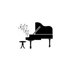 Piano vector  icon.