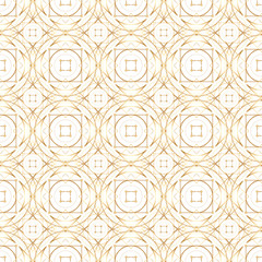Golden abstract geometry vector seamless pattern