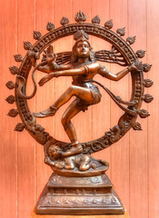 Traditional Indian statue of Lord Shiva, from Tantra tradition
