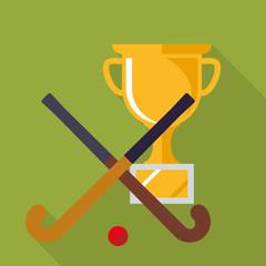 Flat Design Hockey Cup Icon