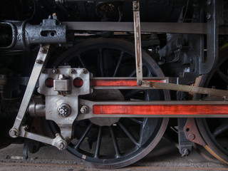 Driving wheel of steam locomotive - C62