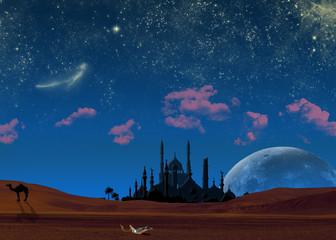 Arabian night/Starry night in the desert