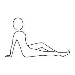 silhouette woman relaxing her body, vector illustration design