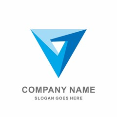 3D Geometric Triangle Circular Infinity Cube Space Architecture Interior Business Company Stock Vector Logo Design Template