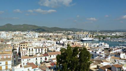 Panoramic of the port of Eivissa
