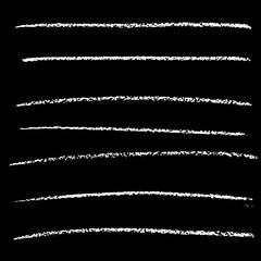 Vector chalked handmade lines. Chalk hand drawn strokes. Vector handdrawn illustration.