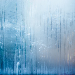 Abstract structure formed by condensation of water on glass