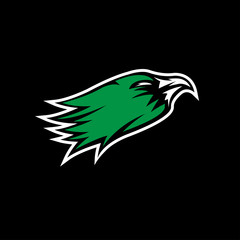 eagle head sport mascot vector design template