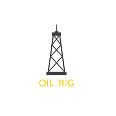 oil rig abstract simple vector design template