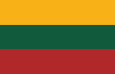 Vector of amazing Lithuanian flag.