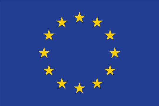 Vector of amazing European Union flag.