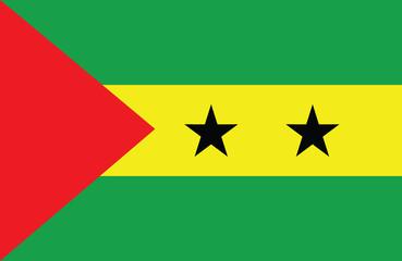Vector of amazing Sao Tome and Principe flag.