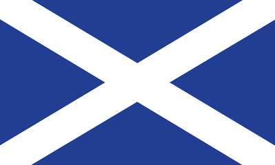 Vector of amazing Scottish flag.
