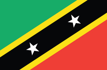 Vector of amazing Saint Kitts and Nevis flag.
