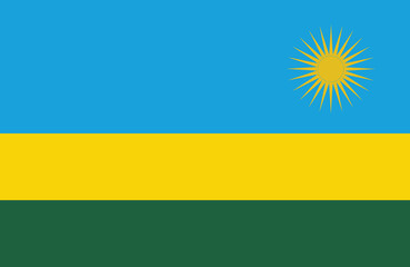 Vector of amazing Rwanda flag.
