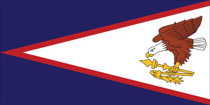 Vector of amazing American Samoa flag.