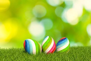 3d illustration easter eggs