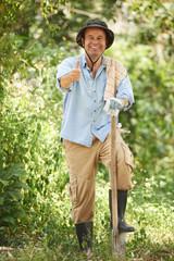 Cheerful gardener