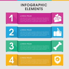 Treat infographic design with elements.