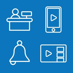 Set of 4 call outline icons