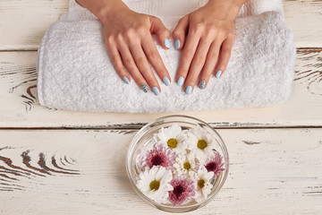 Wall Mural - Spa treatments for hands. Manicure salon.