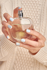 Wall Mural - Beautiful bottle with a luxury fragrance.