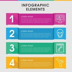 Skeleton infographic design with elements.