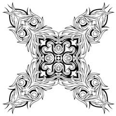 Vintage floral tattoo element pattern design