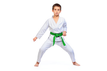 karate boy portrait