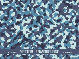 sea blue camouflage