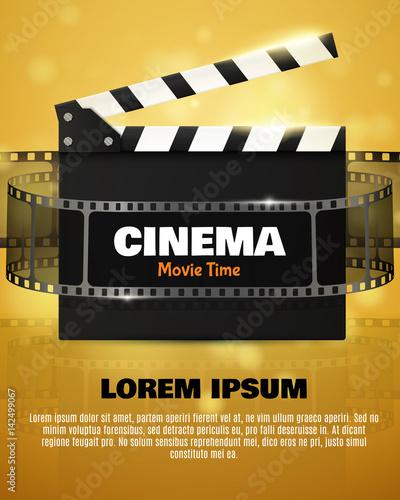 Cinema Flyer Or Poster. Vector Illustration. Film festival template ...