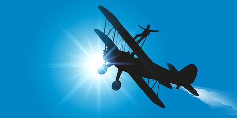 Avion - Acrobatie - cascade - aérienne - voltige - vol acrobatique