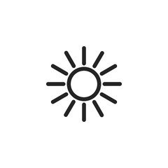 Sun vector icon, summer hot symbol. Modern, simple flat vector illustration for web site or mobile app