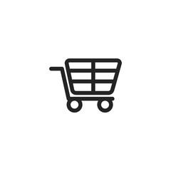 Shopping cart vector icon, basket symbol. Modern, simple flat vector illustration for web site or mobile app