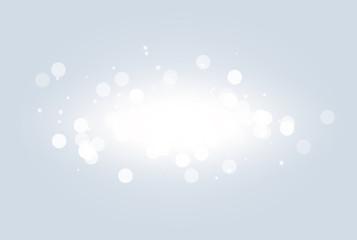 Wall Mural - Abstract white bokeh light effect explosion sparks modern design. Glow star burst blur defocused. Sparkles light vector background. Christmas Concept. Flicker magic effect.