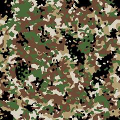 Arid Flectarn Camouflage seamless patterns. Vector Illustration.
