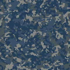 Navy Flectarn Camouflage seamless patterns. Vector Illustration.