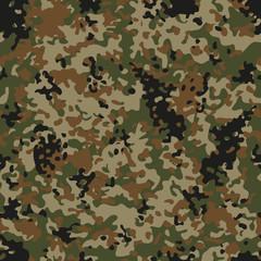 Autumn Flectarn Camouflage seamless patterns. Vector Illustration.