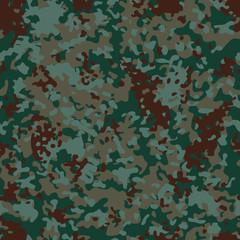 Euro Flectarn Camouflage seamless patterns. Vector Illustration.