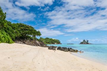 Spectacular Anse Royale beach, Mahe Island, Seychelles.