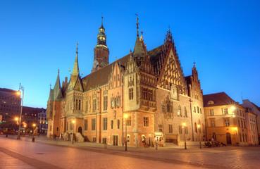 Obraz Wrocław ratusz - fototapety do salonu