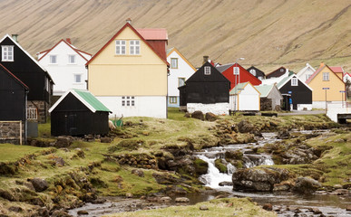 Houses in Gjogv, Faroe Islands